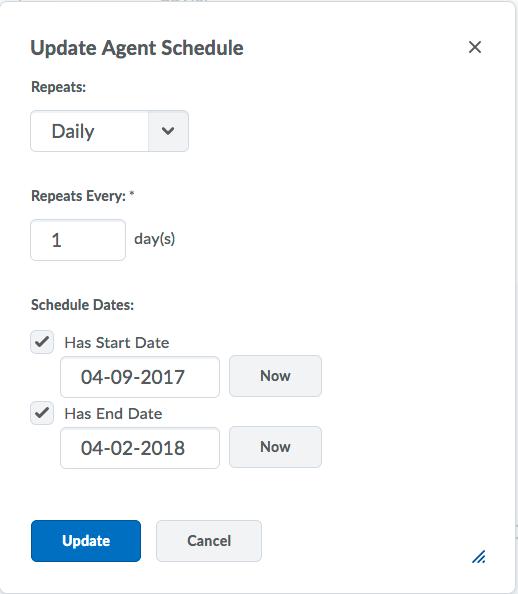 Intelligent Agents - Getting Started - Schedule