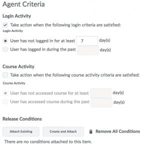 Lack of System Login - Agent Criteria